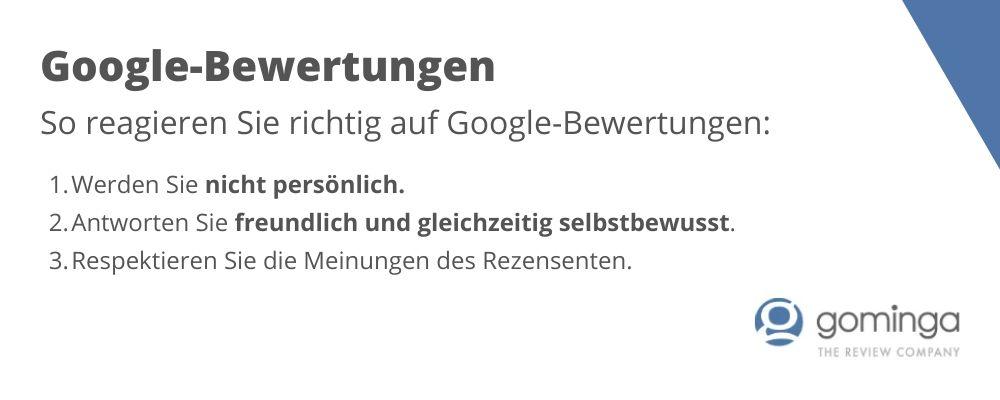 Google Bewertungen professionell managen